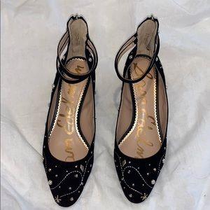 Black stud Sam Edelman heels